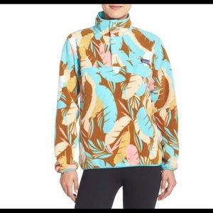 Patagonia Synchilla Feather Dance Snap Pullover S